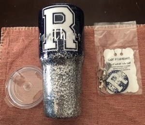 1 Reitz tumbler and a Reitz key chain