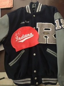 Lilly Kings HS letter jacket/signed cap