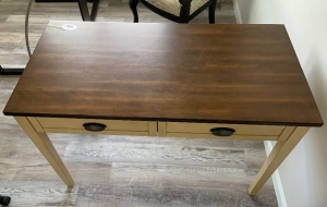 Two tone wood desk