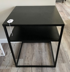 Project 62 steel frame accent table