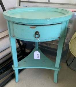 Round Turquoise rustic table