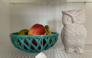 Fruit bowl and owl