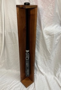Baseball Bat Autographed by Chicago Cubs' David Ross