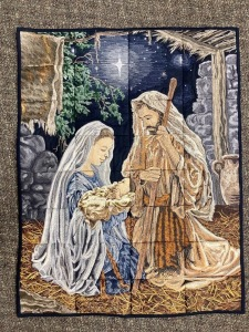 Handmade Nativity Scene Wall Hanging