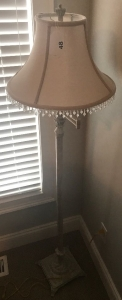 Modern floor lamp w/ beaded shape