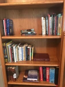 3 shelves of books