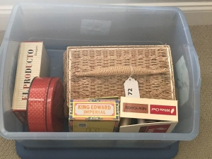 Sewing basket & supplies