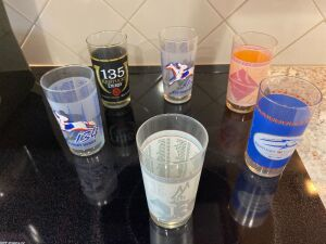 6 Kentucky Derby glasses (2006-2010)