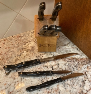 Misc Cutco knives and block