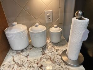 Canister set, paper towel holder