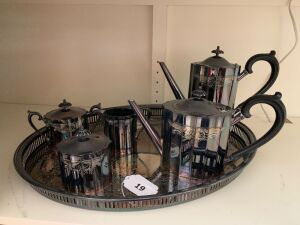 Lunt Silver plate coffee and tea service