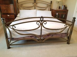 King Wrought Iron Bed