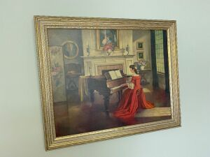 Gold framed picture Sonata M. Ditlef