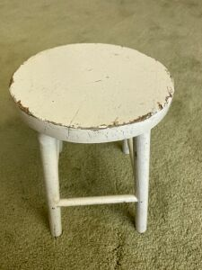 Old doll stool