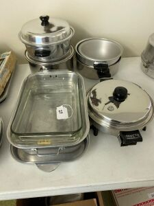 Electric skillet, pots, baking dishes