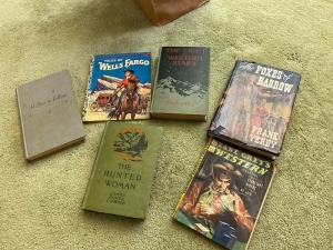 Old books mostly western themed