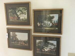 4 Horse theme framed prints