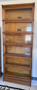 Macey 6 section barrister oak  bookcase