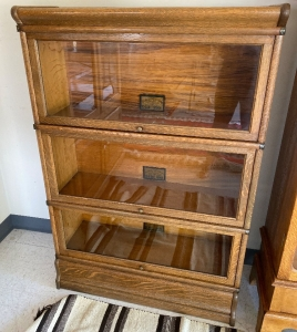 The Globe Wernicks Co 3 section barrister bookcase