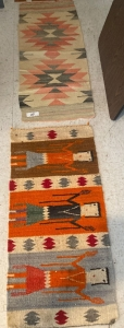 2 small Native American rugs