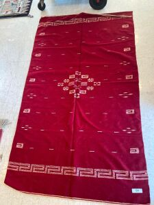 Native American blanket red and cream color