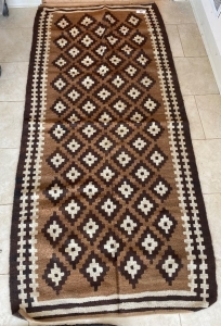Weave rug brown and cream