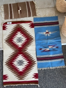 3 Small Native American rugs
