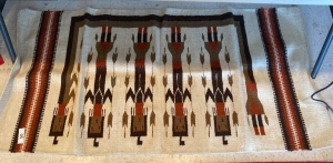 Native American rug with figures