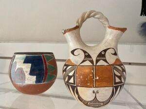 Native American wedding vase, pottery bowl