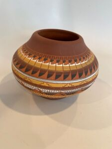Native American signed pottery bowl