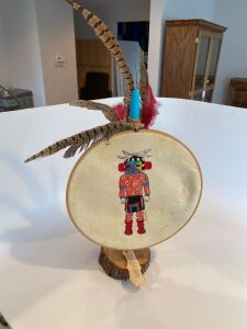 Spotted Kachina doll art piece