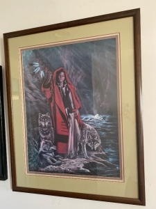 "Penni Cross signed lithograph ""Red Riding Hood and Her Wolves"""