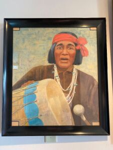 Native American framed picture