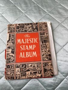 Majestic Stamp Album and stamps