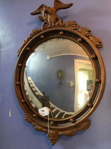 Eagle framed mirror