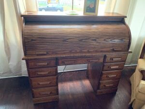 Oak Roll top desk Modern