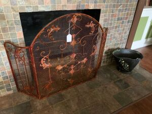 Fireplace Screen and coal bucket