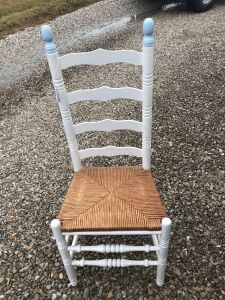Ladder back chair w/ cane seat