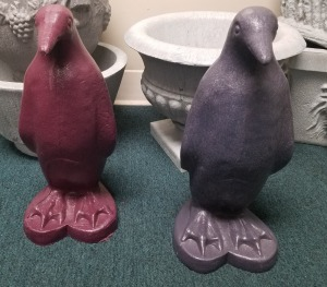 2 purple penguins