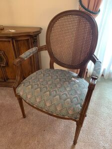 Pair or cane back arm chairs