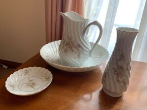 Haviland Limoges picture and bowl, vase, dish