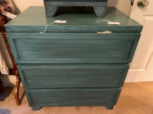 Chest & nightstand with blue finish