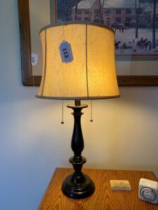 "Pair of 28"" lamps with shades"