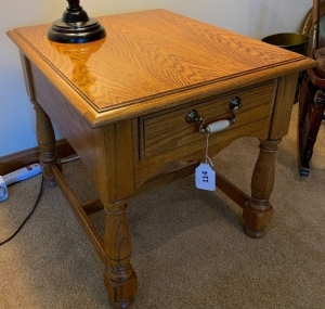 Pair of Oak side tables with drawer