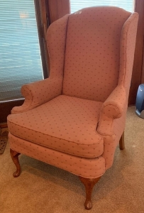 Clayton Marcus pink arm chair