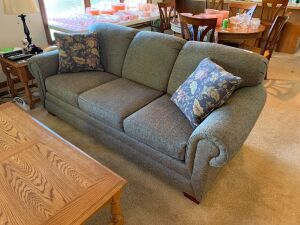 "86"" Tweed upholstered couch"
