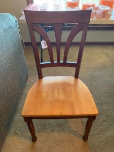 6 two tone dinning chairs
