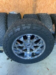 Toyo MT 4 mounted wheels & tires, 2 spare tires