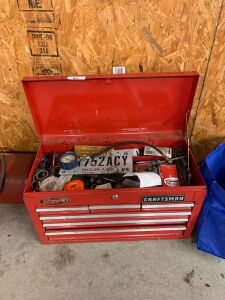 Craftsman six drawer toolbox and contents