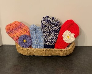 Homemade Knit Hats